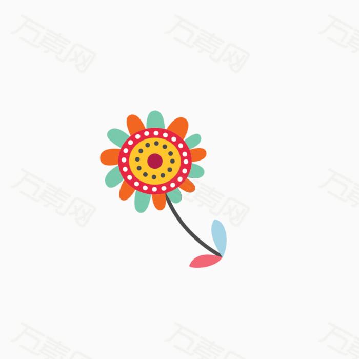 卡通手绘花朵