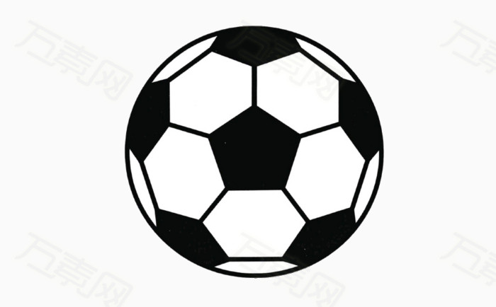 手绘黑白足球