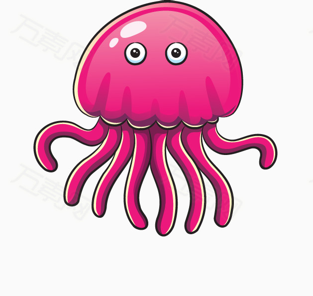 卡通动物 海洋动物 可爱动物 海底世界 鲸鱼 螃蟹