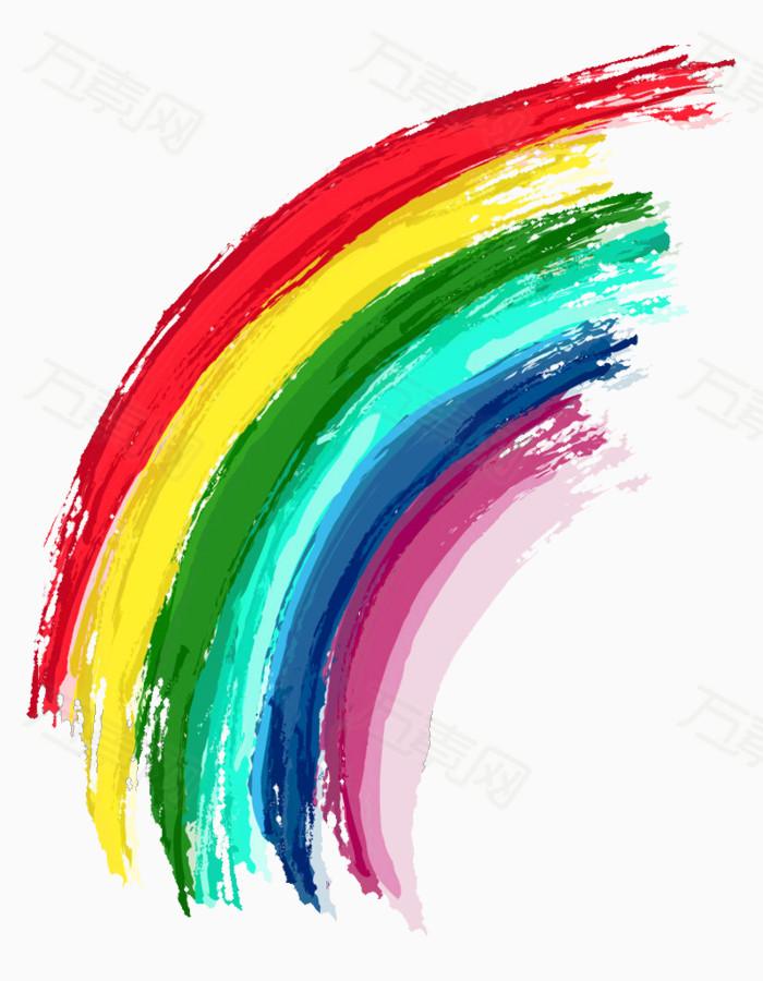 手绘彩虹图片免费下载_效果元素_万素网