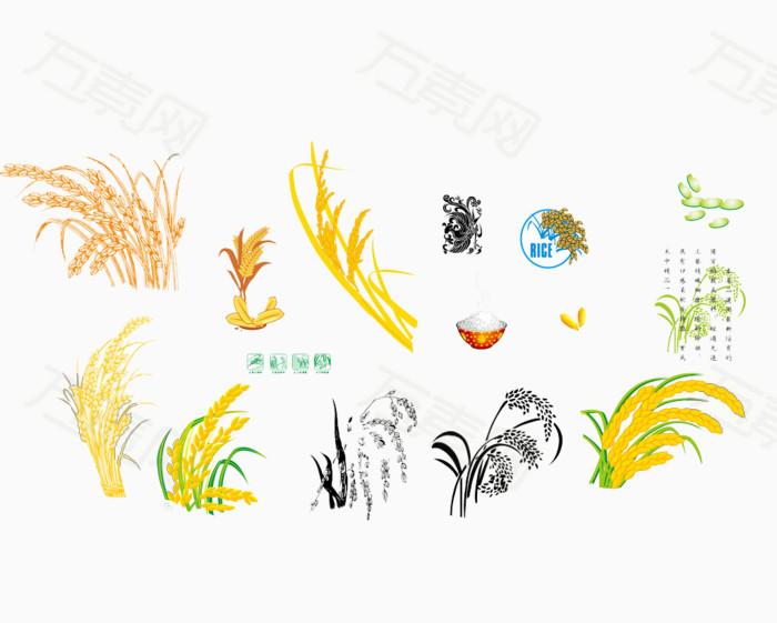 稻谷图片免费下载_卡通手绘_万素网图片