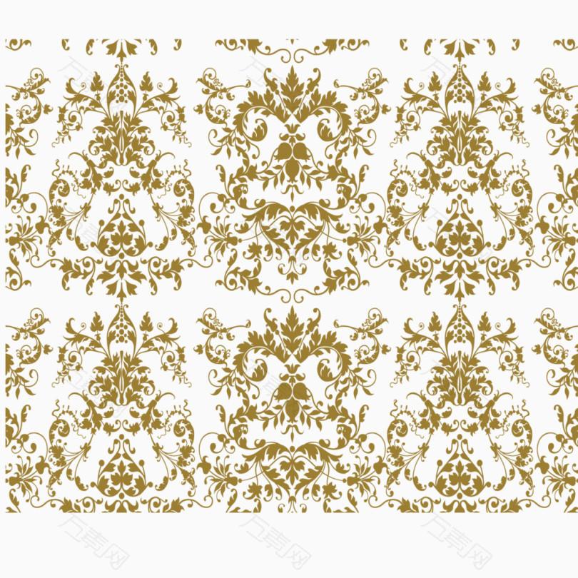 金色的欧式洛可可图案