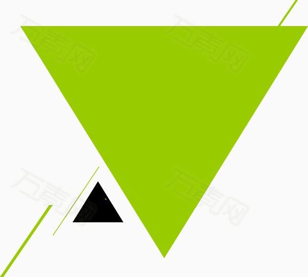 幾何三角形海報素材