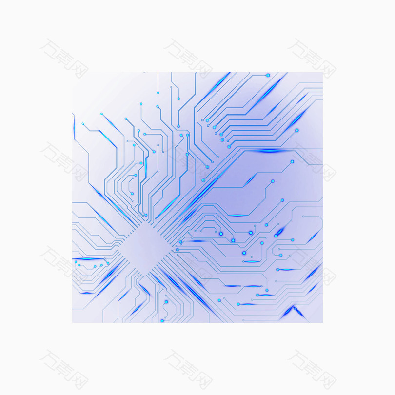 蓝色科技电子元件电路