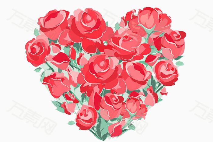 心形玫瑰手绘