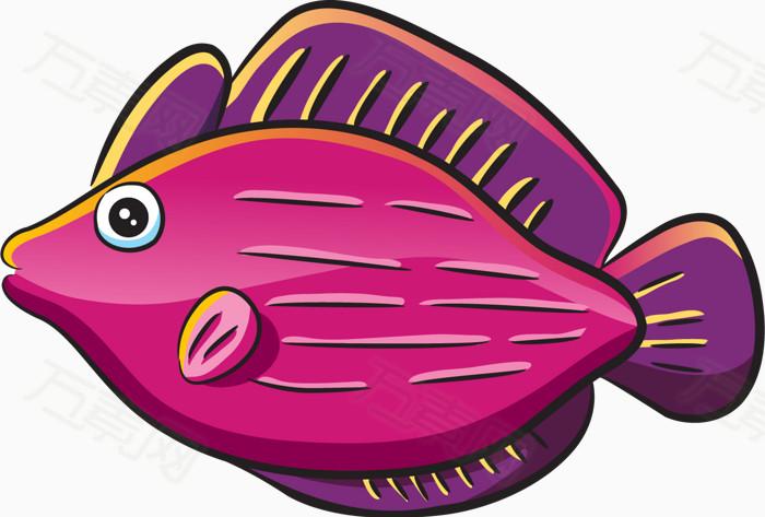 卡通手绘鱼类png图片