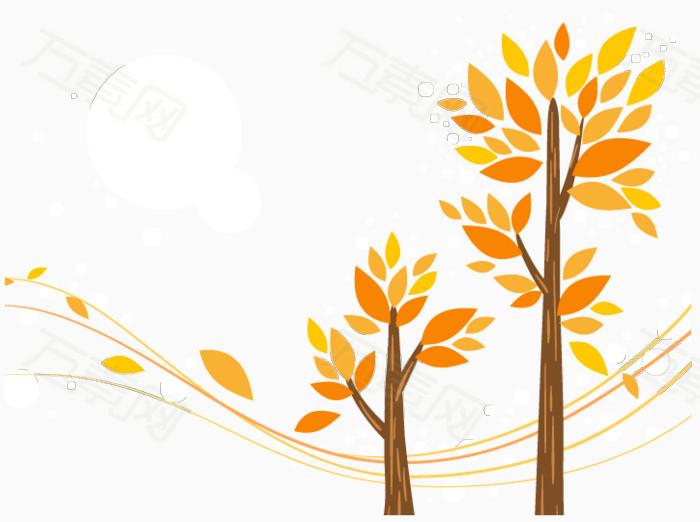 矢量秋天风景