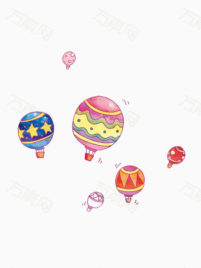 可爱卡通热气球