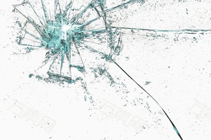 破洞 玻璃效果 三个破洞 破裂 裂纹 枪击 洞眼