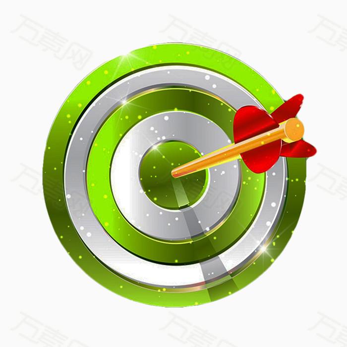 绿色靶子图片免费下载_装饰元素_万素网