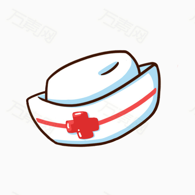 卡通手绘护士帽 医生帽 可爱 卡通 手绘 png免