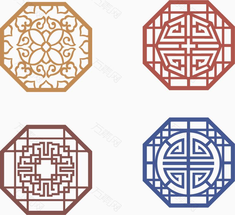 中国风六边形花纹