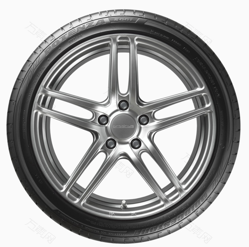 一个汽车轮胎