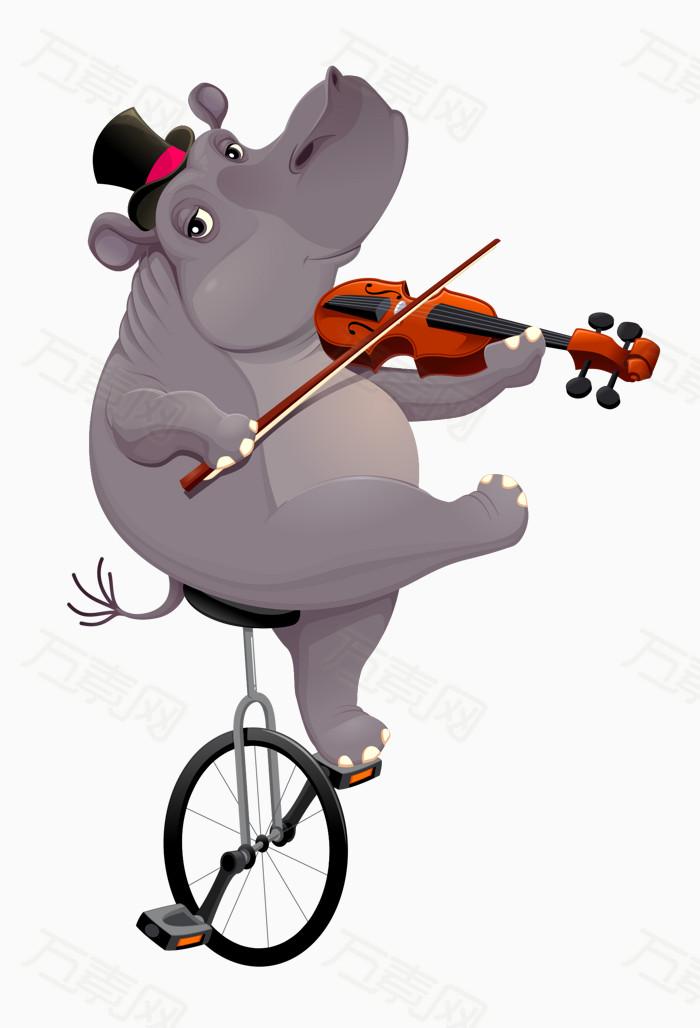 耍杂技的动物免费下载   大象  骑单车  拉