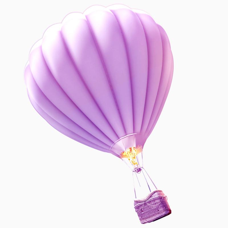 粉色热气球png素材下载