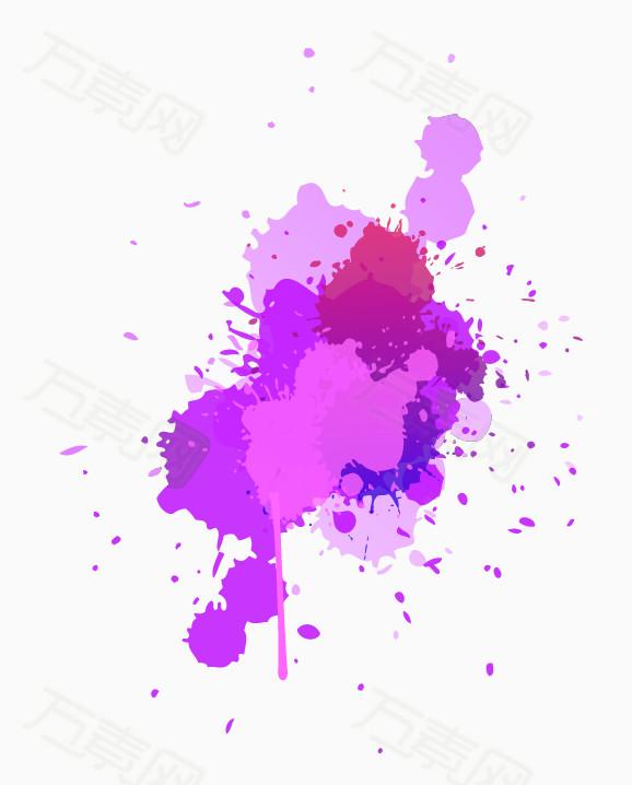 多彩水墨 水墨喷溅 颜料喷溅 色彩 油漆 设计