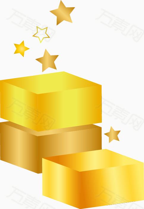 手绘黄色方块星星图案  万素网提供手绘黄色方块星星图案png设计素材