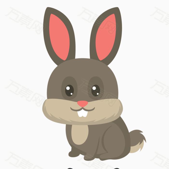 兔子  卡通 手绘 线条 简笔画 彩色 漫画