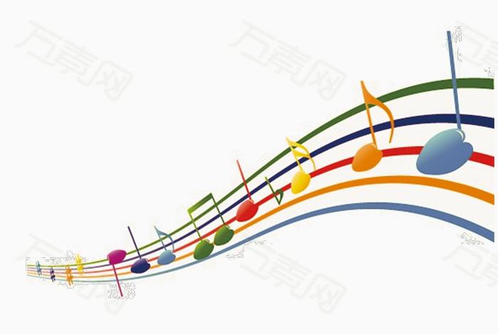 万素网提供简约创意音符png设计素材,背景素材下载.图片