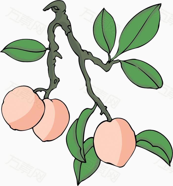 彩绘卡通桃子
