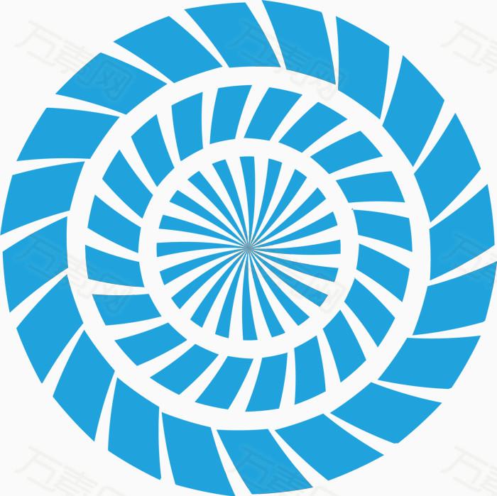 蓝色圆形虚线圆素材
