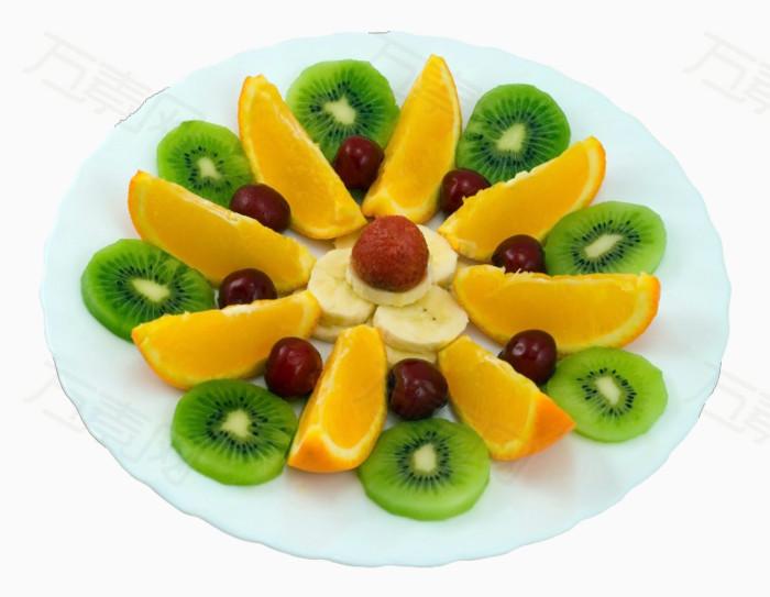 水果拼盘 桔子 猕猴桃 水果  png素材 产品实物图片