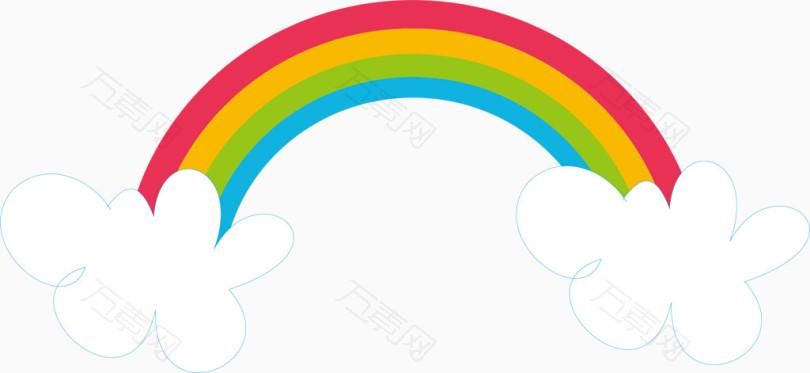 手绘彩虹矢量图_卡通手绘_2505*1153px_编号4181299