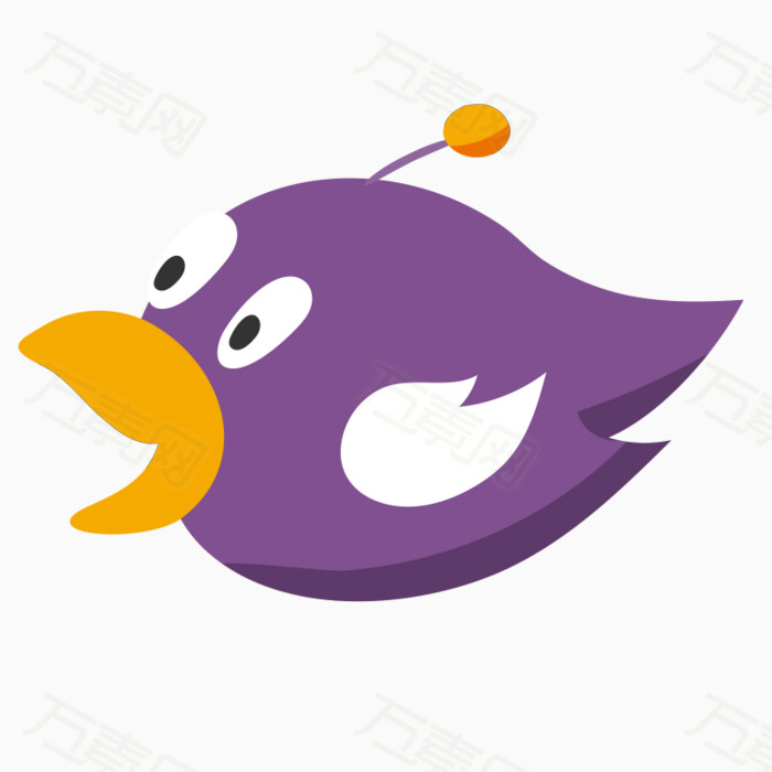 卡通小鸟 手绘小鸟 紫色小鸟 鸟类 动物 飞翔