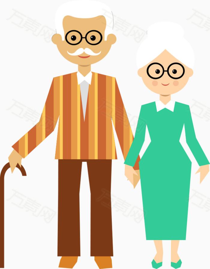 万素网 素材分类 卡通老人  12537 万素网提供卡通老人png设计素材