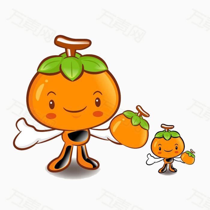 可爱卡通橙子