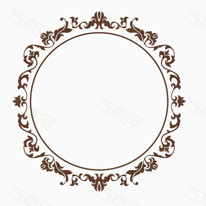 欧式大气圆形边框纹饰