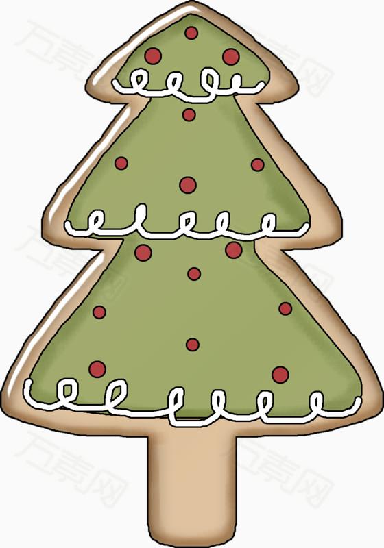 卡通手绘圣诞节松树