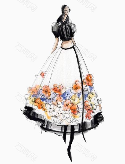 礼服设计插画稿