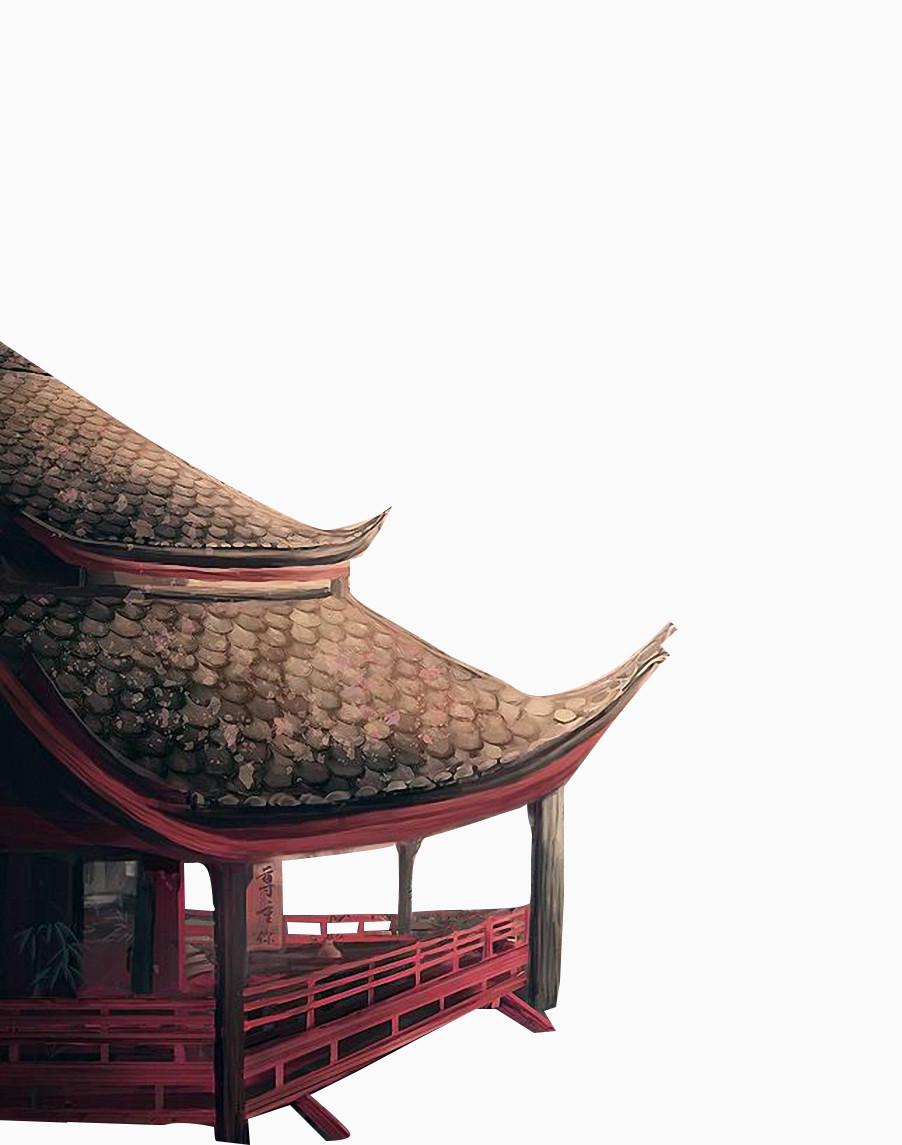 中国风房屋屋顶