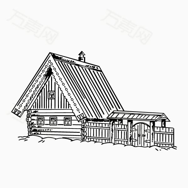 手绘木制桌面素材
