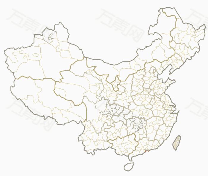 中国地图大公鸡