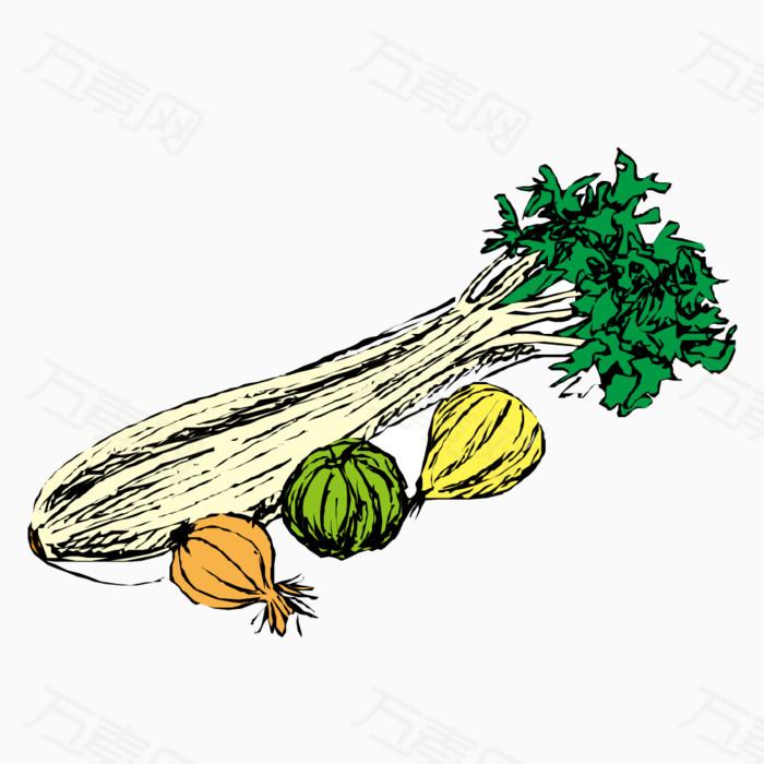 蔬菜   卡通   手绘   卡通蔬菜   手绘蔬菜   青菜