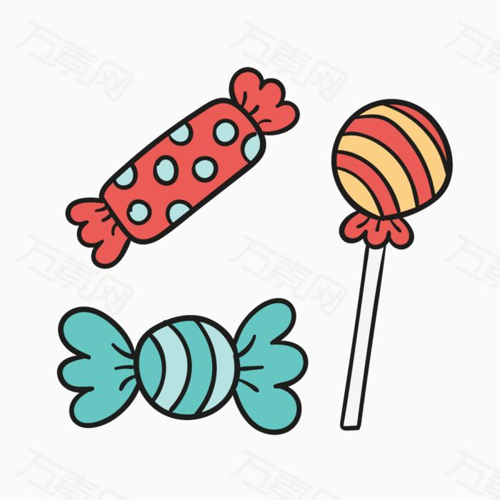 卡通手绘糖果
