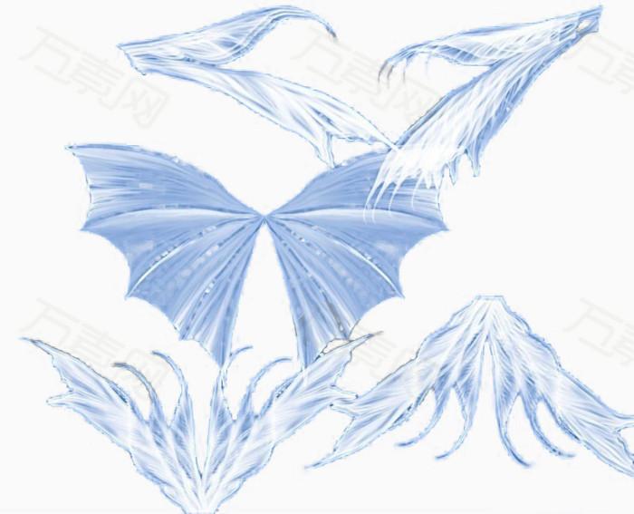 淡蓝色天使翅膀