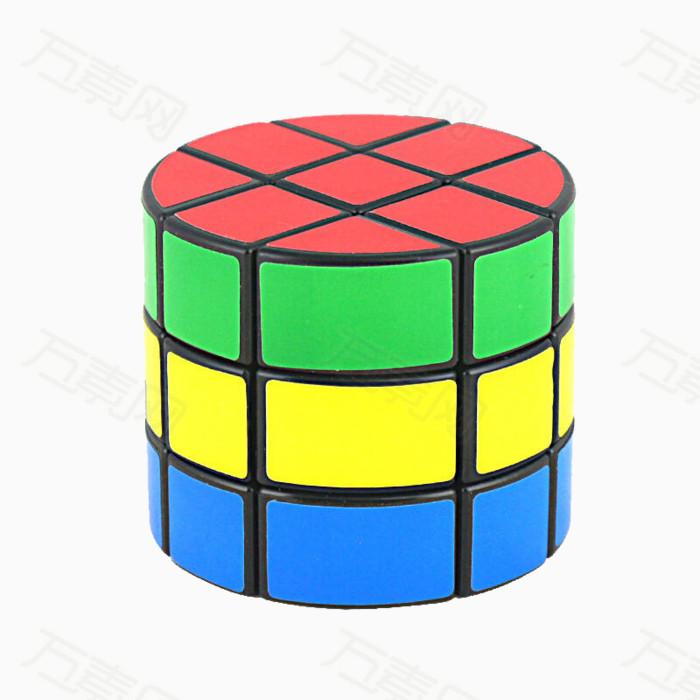 彩色,立体,圆柱体,魔方
