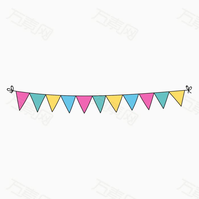万素网 素材分类 彩旗悬挂