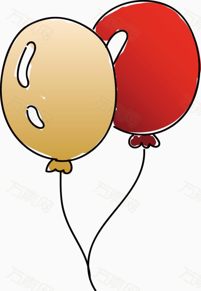 简笔画气球