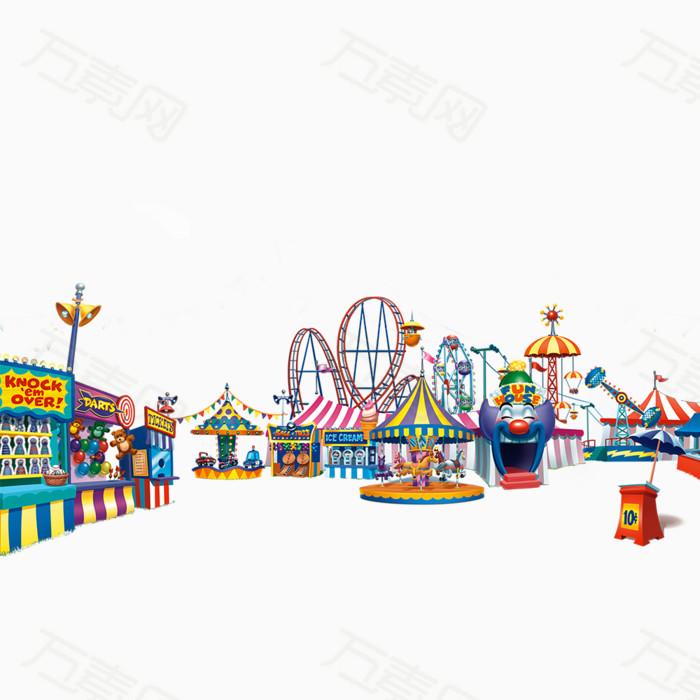 万素网提供游乐场png设计素材,背景素材下载.