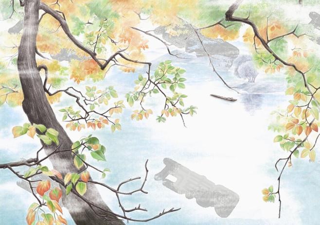 万素网 免抠元素 装饰元素 水彩风景画  万素网提供水彩风景画png设计