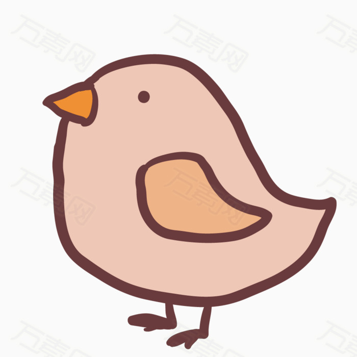 小鸡 小鸟 卡通 手绘 线条 简笔画 彩色 漫画