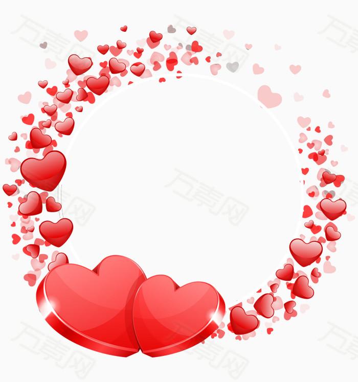 素材分类 心形花环花圈图框  万素网提供心形花环花圈图框png设计素材
