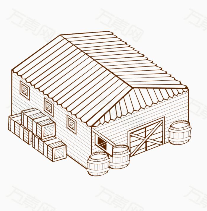 简笔画手绘房子