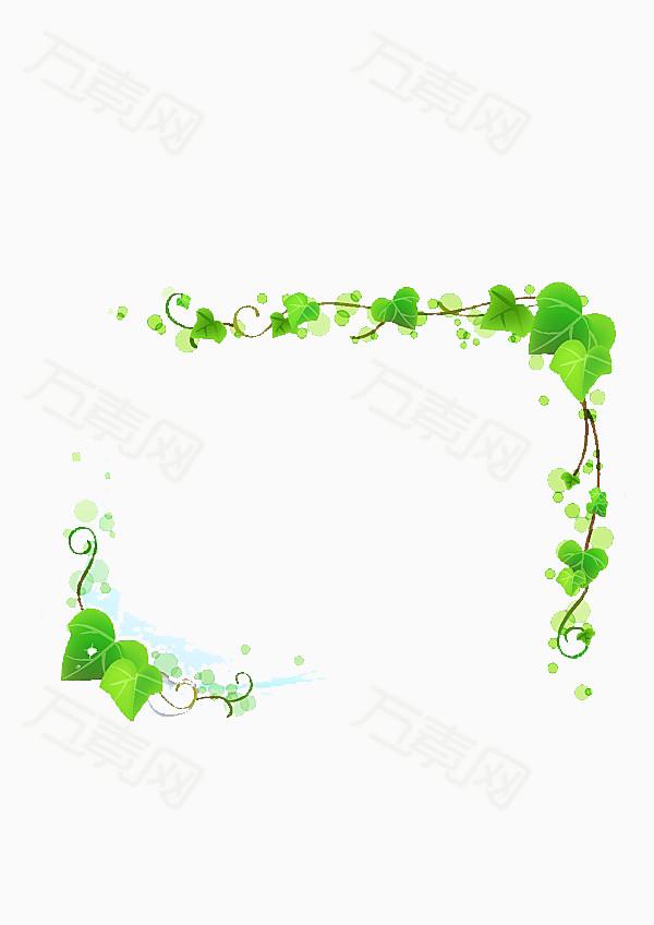 素材分类 绿叶边框  9289 万素网提供绿叶边框png设计素材,背景素材