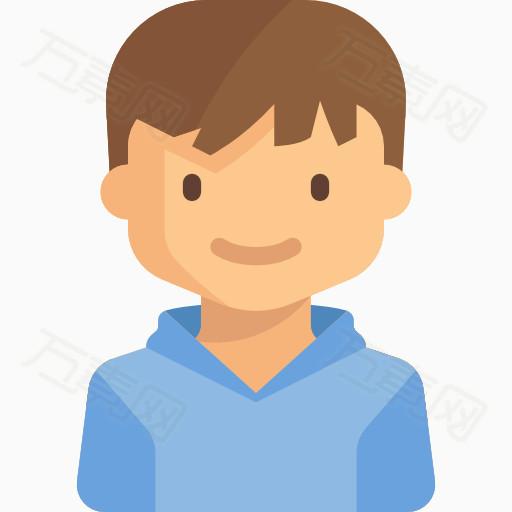 卡通男孩 手绘男孩 可爱的男孩 男头像 男孩