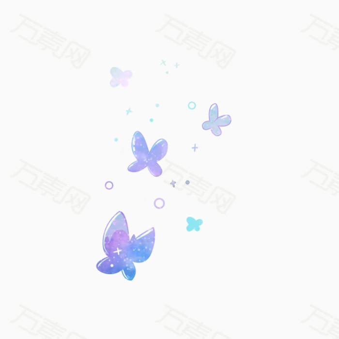 星空 蝴蝶 泡泡 梦幻